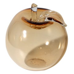 Clear Murano Glass Large Apple ca. 1950