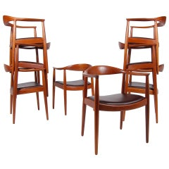 Set of Eight Hans Wegner Classic Chairs