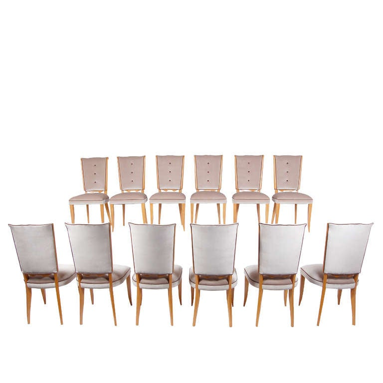 Only 6 Dining Chairs By Pierre Patout At 1stdibs