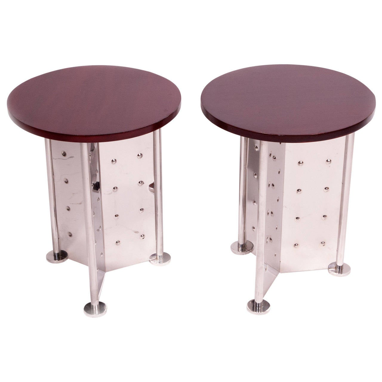 Pair of side tables by philippe starck for the royalton hotel at 1stdibs for Philippe starck tables