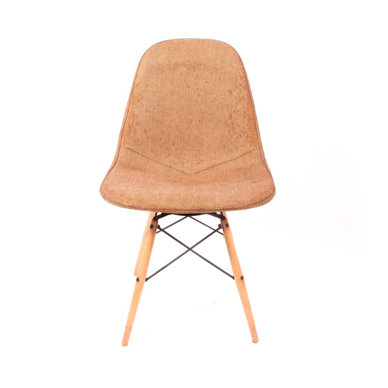 original pkw charles eames dowel leg swivel chair for sale