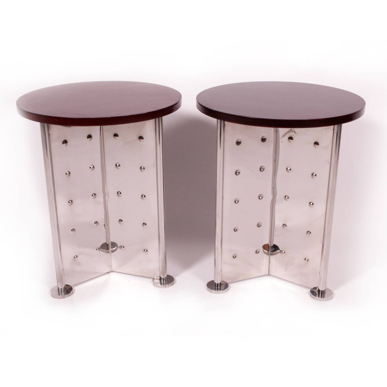 Pair of side tables by philippe starck for royalton at 1stdibs for Philippe starck tables