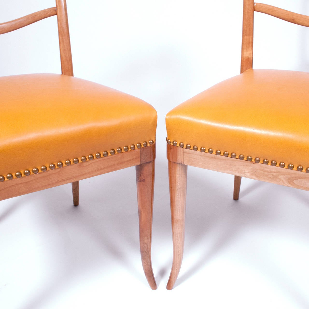 Set Of Six Dining Chairs Attributed To Guglielmo Ulrich At