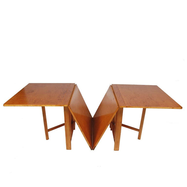 early bruno mathsson maria expandable dining table at 1stdibs