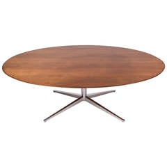 Florence Knoll Table or Desk Oval Rosewood Top