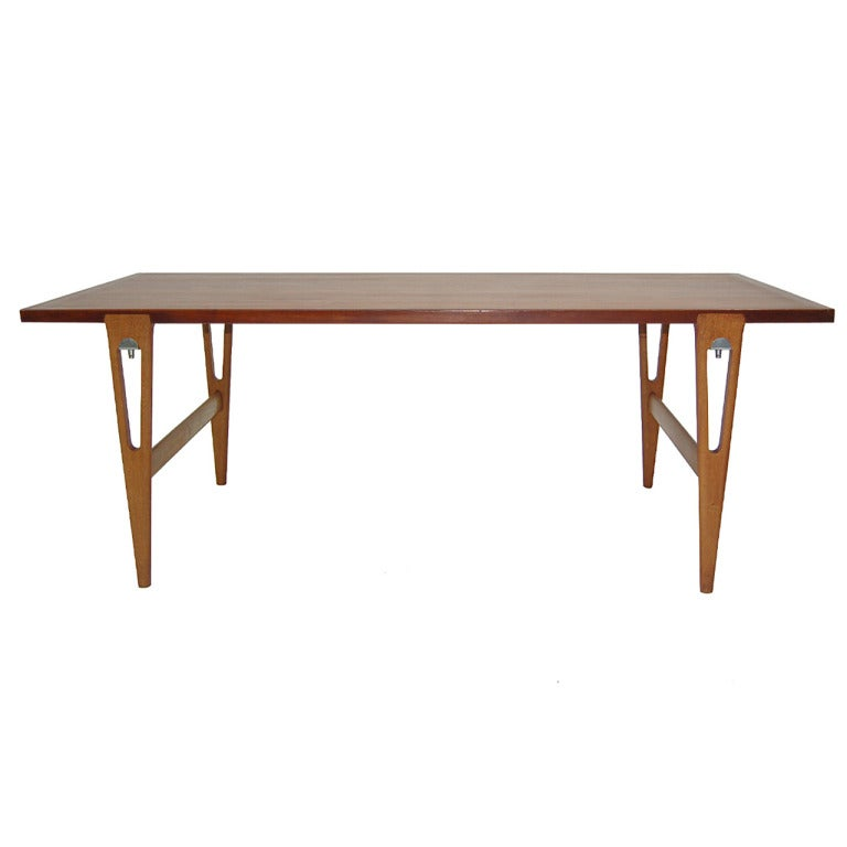 Rare Hans Wegner For Johannes Hansen Table Or Desk