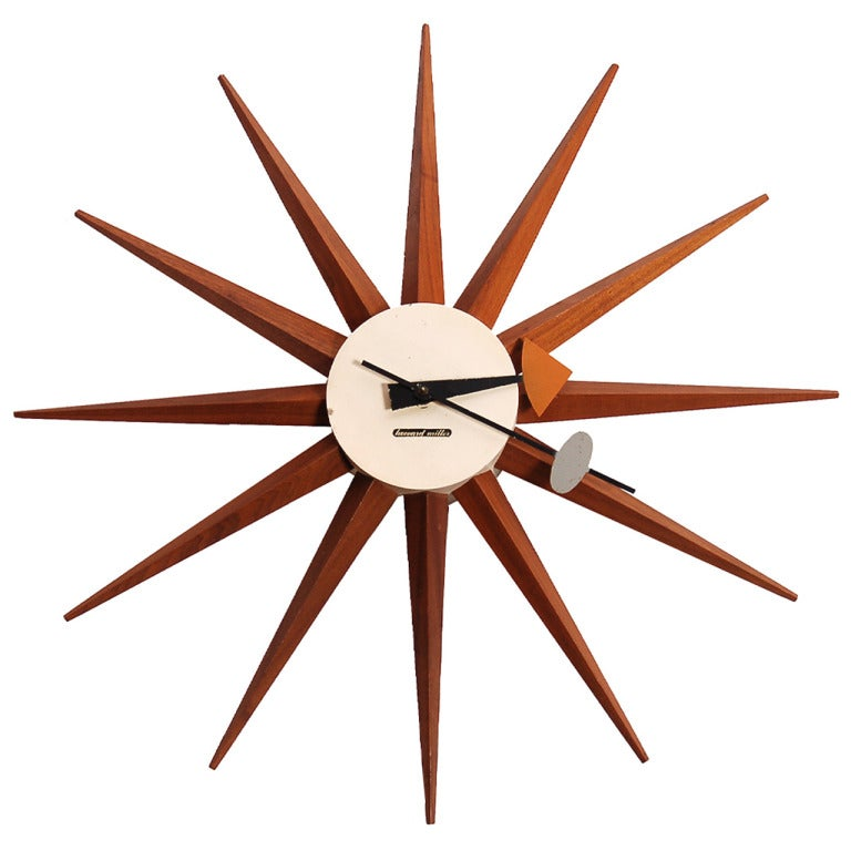 Early wall clock by george nelson for sale at 1stdibs for Nelson wall clock