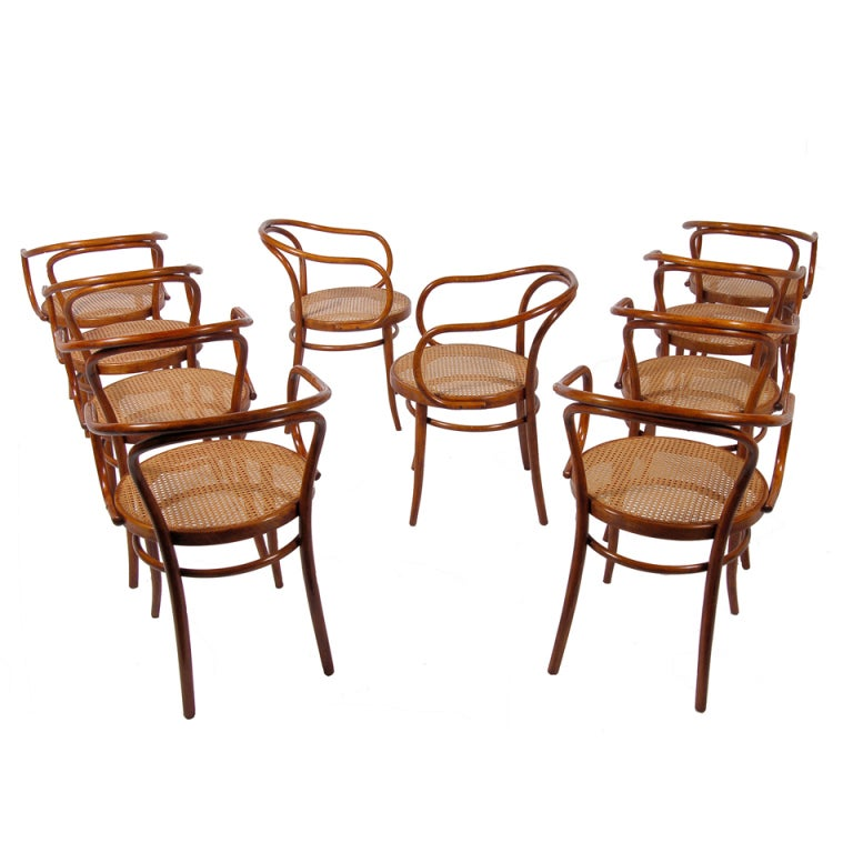 set of ten no 9 chairs by thonet at 1stdibs. Black Bedroom Furniture Sets. Home Design Ideas
