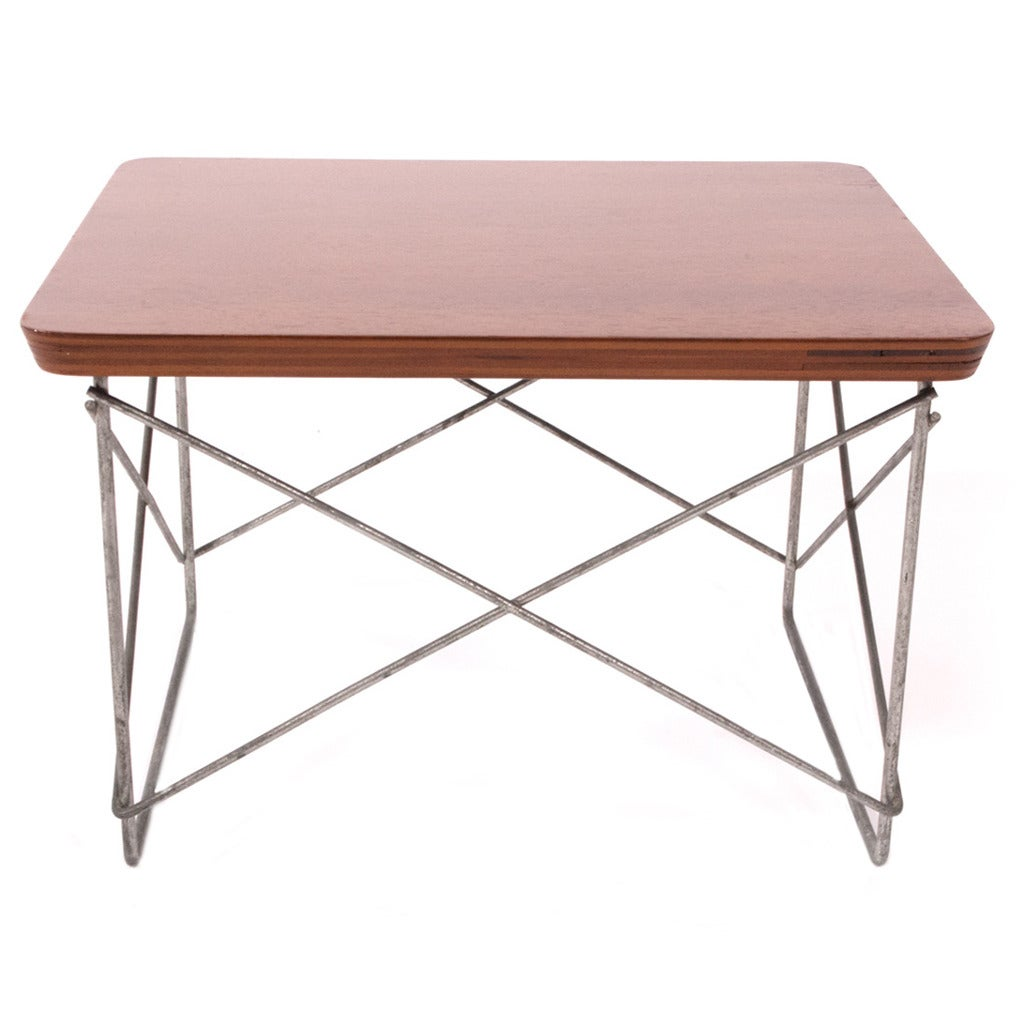 Orly ltr wooden top table by charles eames at 1stdibs for Table charles eames