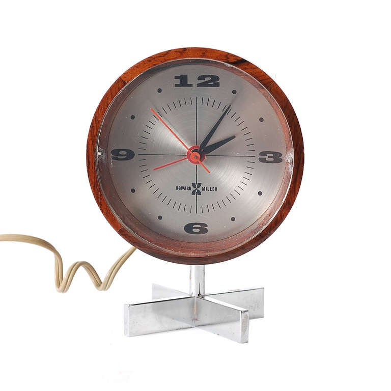 Table clock by arthur umanoff for george nelson and for Nelson wall clock
