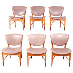 Set of Six Finn Juhl NV-51 for Baker Dining Chairs