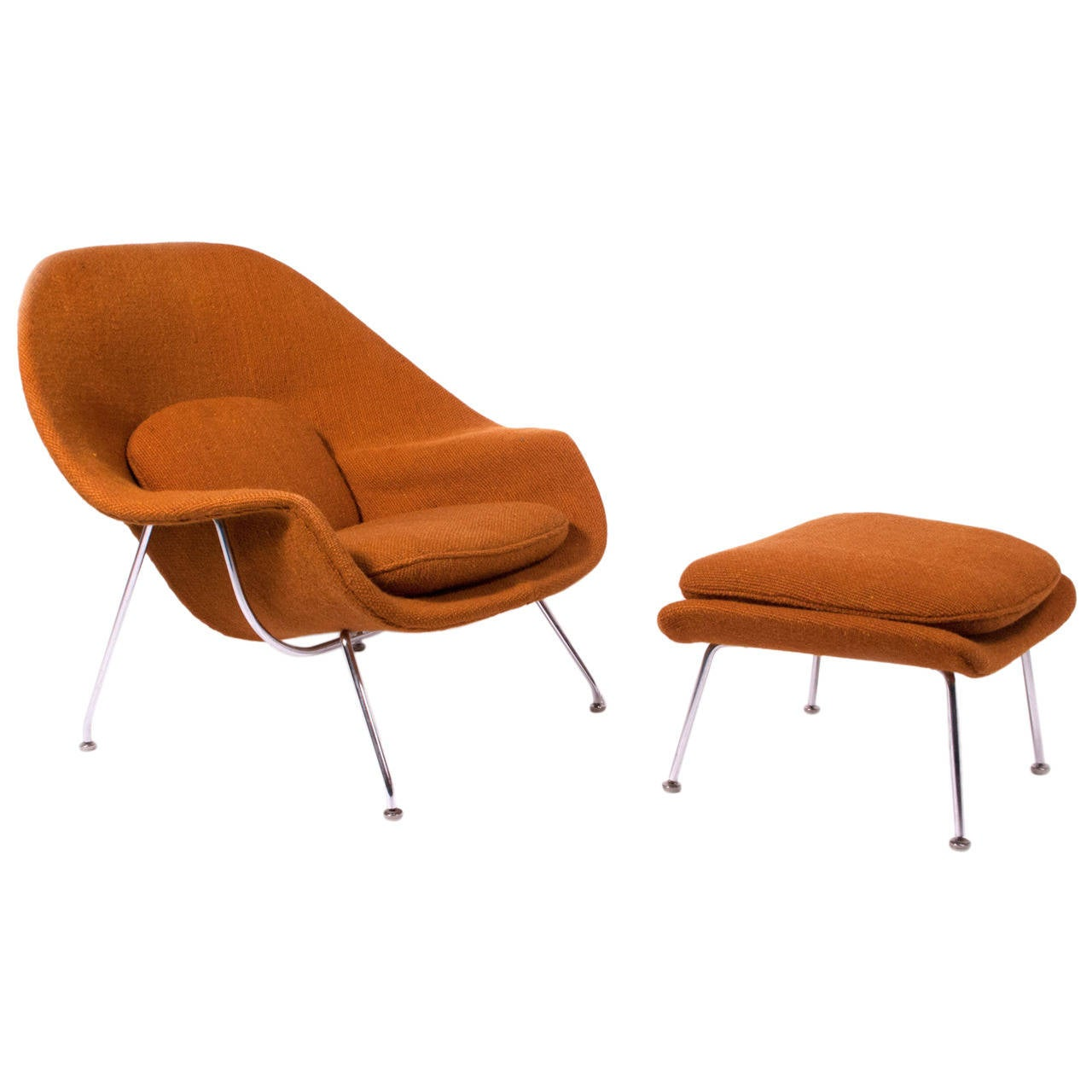 70 Womb Chair And Ottoman By Eero Saarinen At 1stdibs