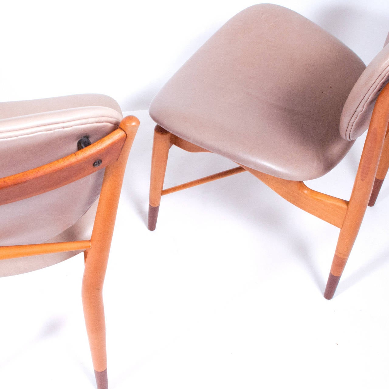Set of Six Finn Juhl NV-51 for Baker Dining Chairs In Good Condition For Sale In Dallas, TX