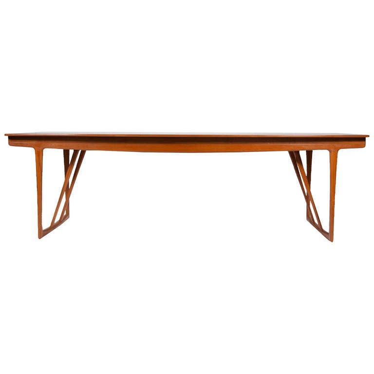 Rare Dining/Conference Table by A. Bender Madsen and Ejnar Larsen For Sale