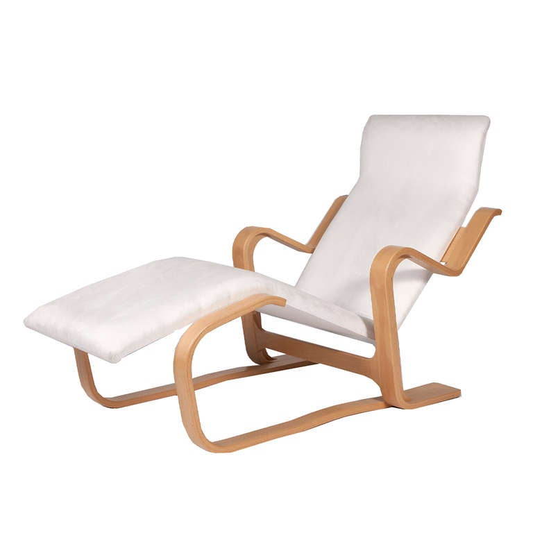 Reclining chaise by marcel breuer at 1stdibs for Breuer chaise lounge