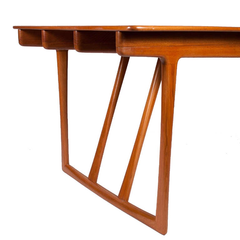 20th Century Rare Dining/Conference Table by A. Bender Madsen and Ejnar Larsen For Sale