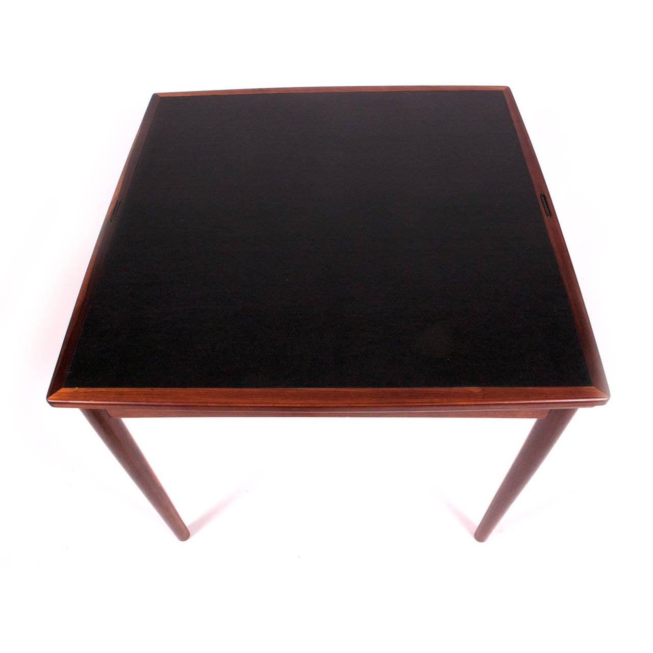1960s Danish Rosewood Sign Game Table Design by Poul Hundevad In Good Condition For Sale In Dallas, TX