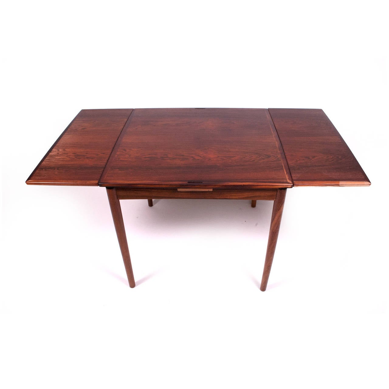1960s danish rosewood sign game table design by poul for Table sign design