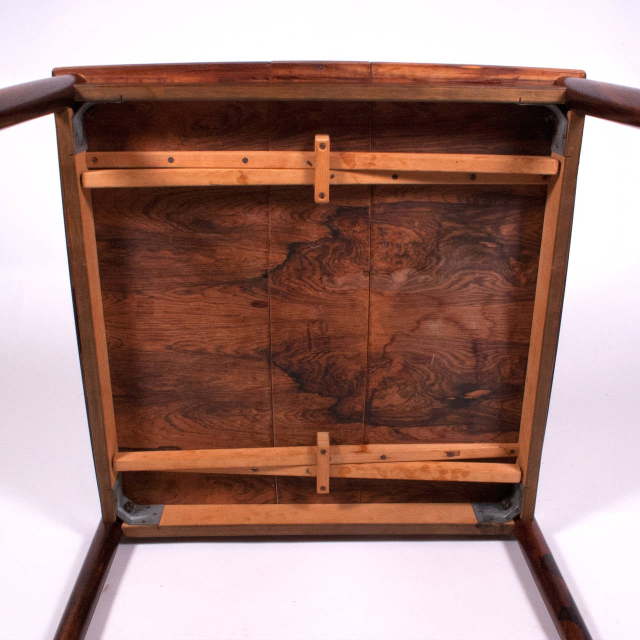 1960s Danish Rosewood Sign Game Table Design by Poul Hundevad For Sale 2