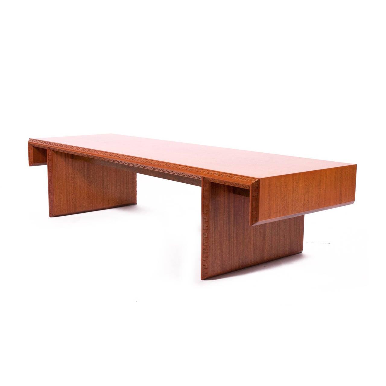 Frank Lloyd Wright Mahogany Coffee Table or Bench at 1stdibs