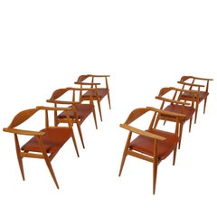 Set of Six CH-35 Armchairs by Hans Wegner