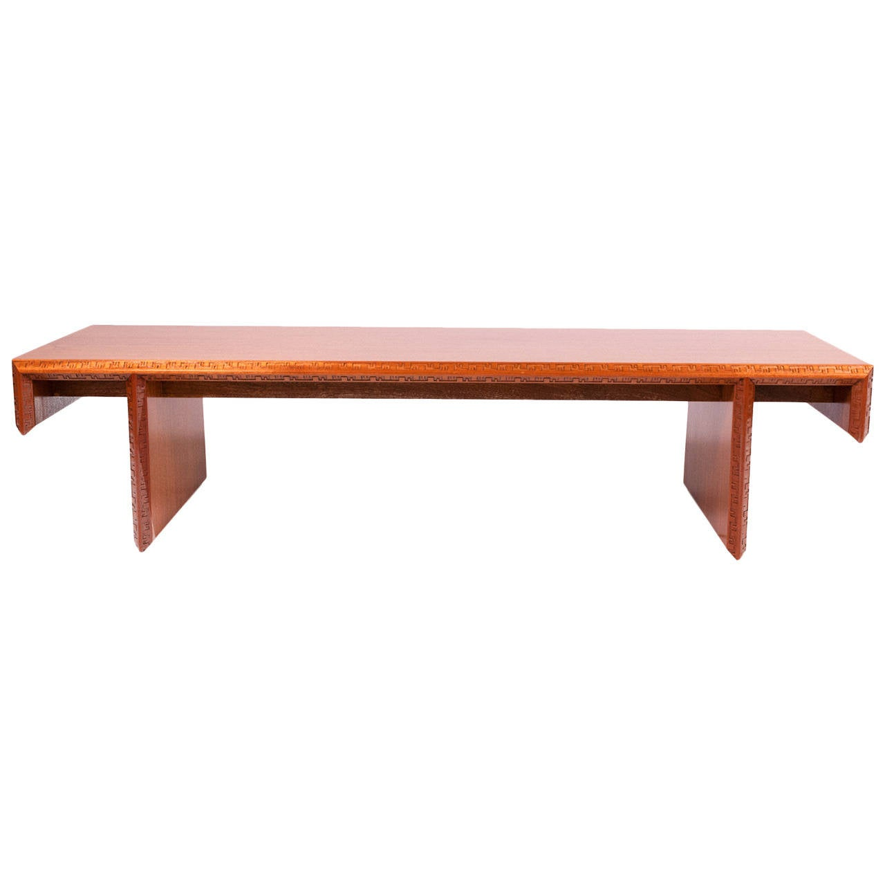 Frank Lloyd Wright Mahogany Coffee Table Or Bench At 1stdibs