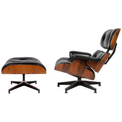 670/671 Lounge and Ottoman by Charles Eames