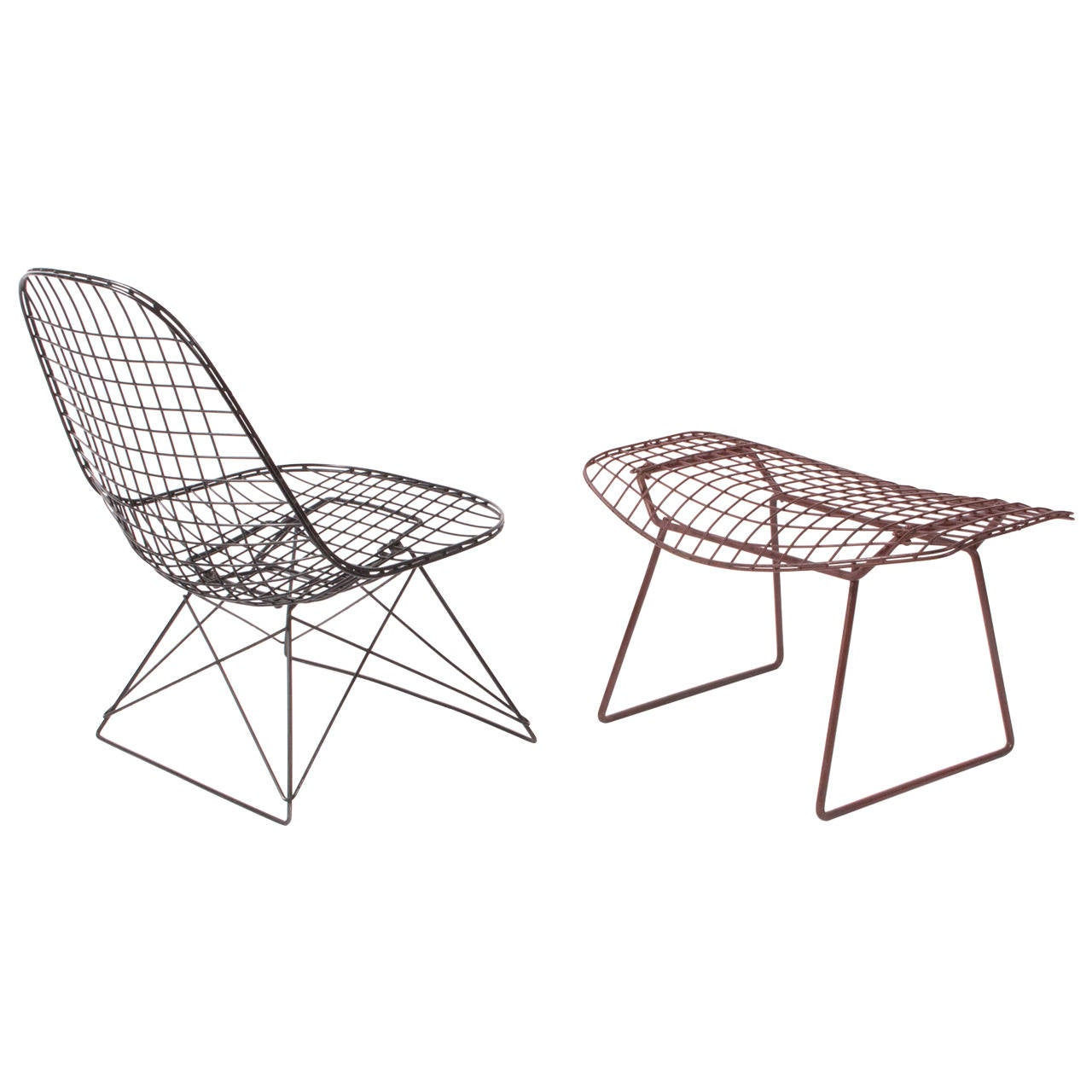 Bertoia Wire Chair lkr-2 charles eames wire lounge chair and harry bertoia wire