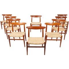 Set of Ten Dining Chairs by Hans Wegner