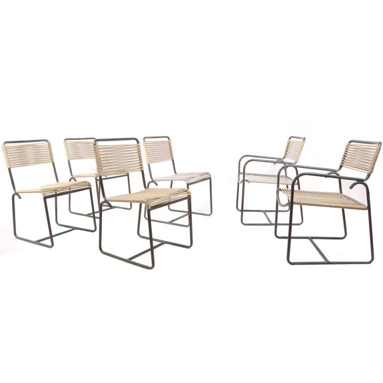 Set Of Six Walter Lamb Outdoor Chairs At 1stdibs