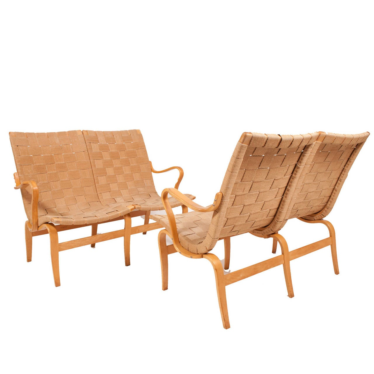 Two Eva Sofas By Bruno Mathsson At 1stdibs