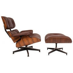 Rosewood Charles Eames Lounge and Ottoman for Herman Miller
