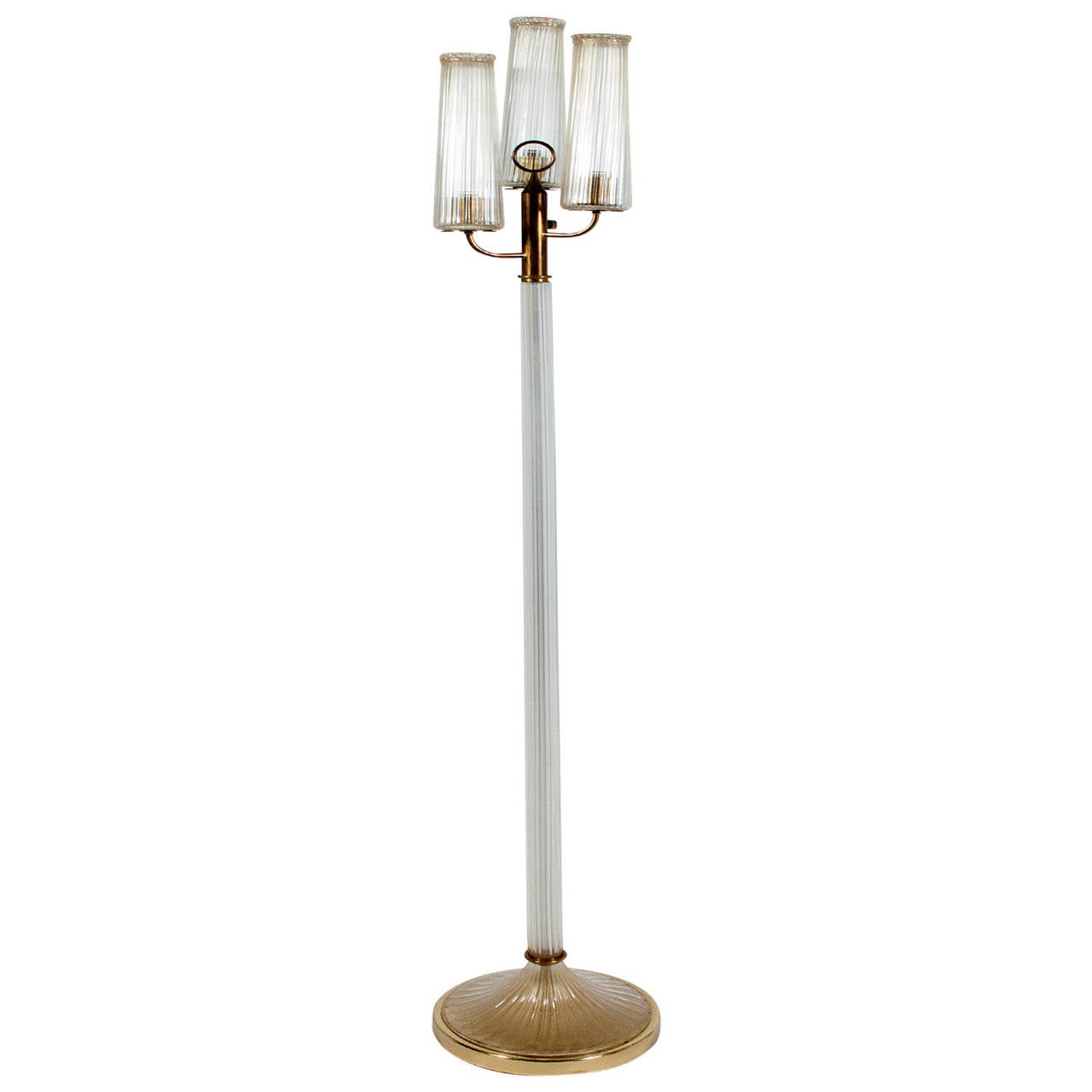 Barovier e toso glass floor lamp for sale at 1stdibs for Barovier e toso