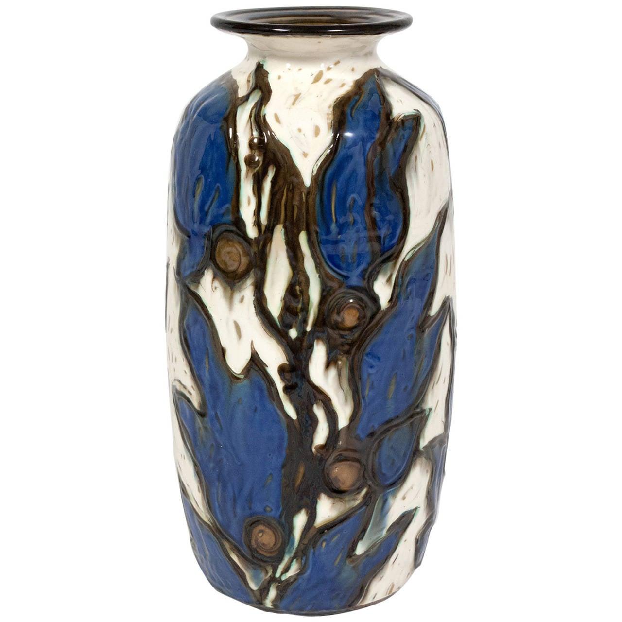 1920s herman k hler ceramic vase designed by jens thirslund for sale at 1stdibs. Black Bedroom Furniture Sets. Home Design Ideas