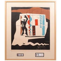 "Print Multiple, Lithograph in Colors Le Corbusier ""Modulor"""