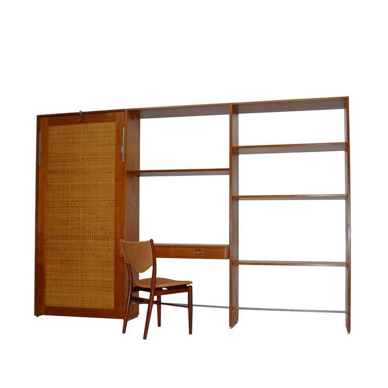Wall Unit Room Divider With Bed By Hans Wegner At 1stdibs