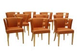 Set of Ten Chairs by Eliel Saarinen thumbnail 2