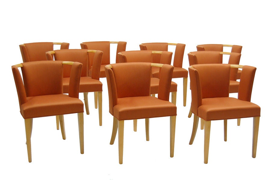 Set of Ten Chairs by Eliel Saarinen image 2
