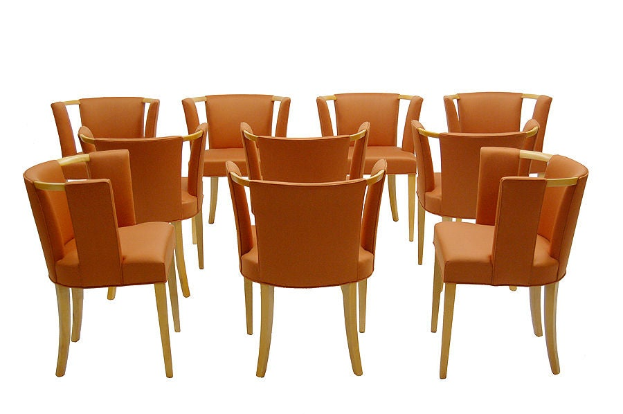 Set of Ten Chairs by Eliel Saarinen image 3