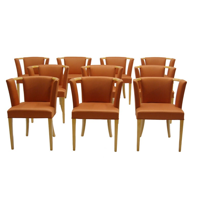 Set of Ten Chairs by Eliel Saarinen