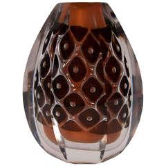 Ariel Art Glass Vase by Edvin Ohrstrom for Orrefors