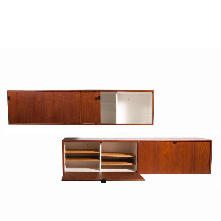 Attrayant Modern Pair Of Early Florence Knoll Wall Hanging Cabinet TOP ONE SOLD For  Sale