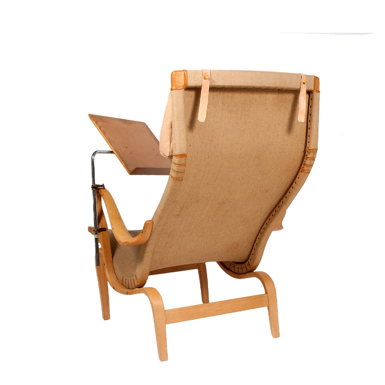 Design by Bruno Mathsson for Karl Mathsson easy chair with reading holder this chair was made in 1969 sign and dated.
