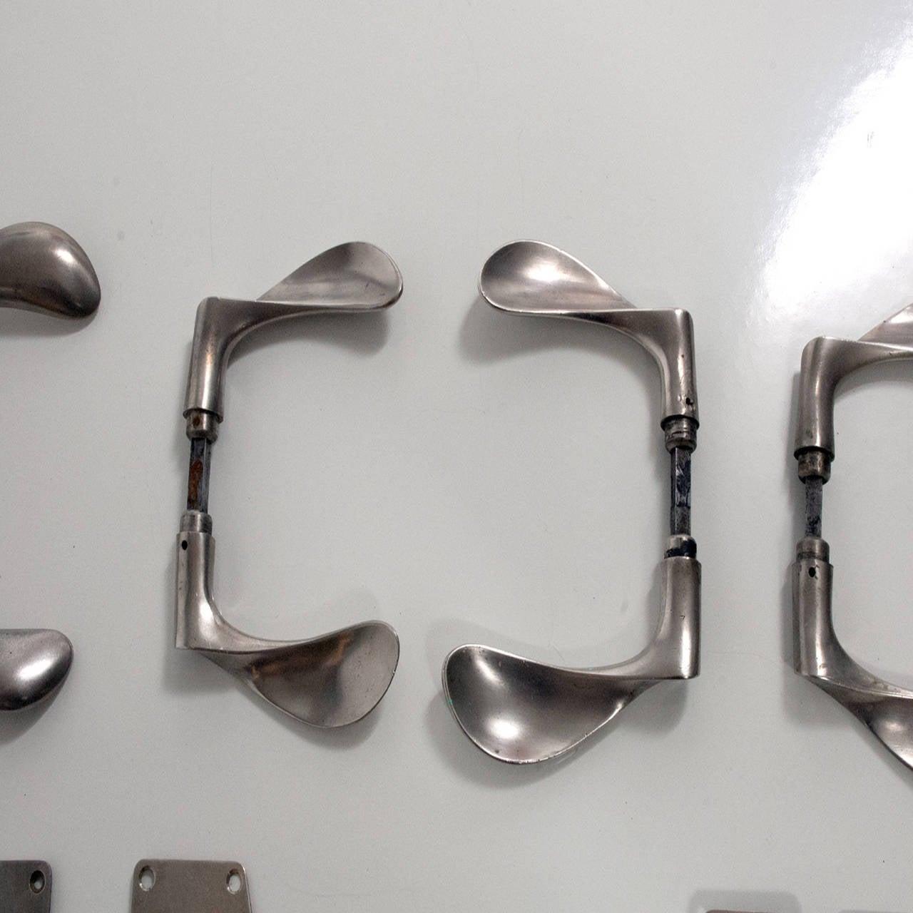 Set Of Six Aj Door Handles Room 606 By Arne Jacobsen