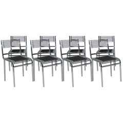 Set of Eight Sandows Chairs by Rene Herbst