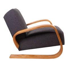Alvar Aalto Cantilever Chair 406 By Artek In Birch And