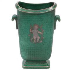 Stoneware Argenta Vase by Wilhelm Kage