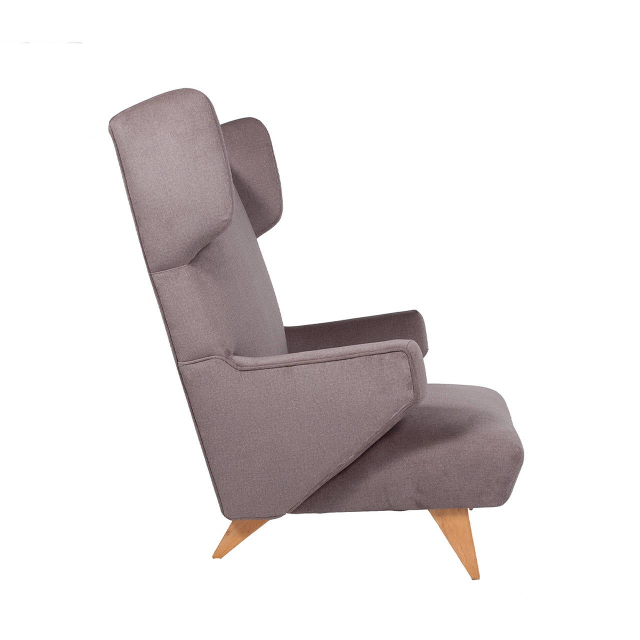 "Rare Jens Risom 1940s for Knoll ""Coupe"" Lounge Chair at 1stdibs"