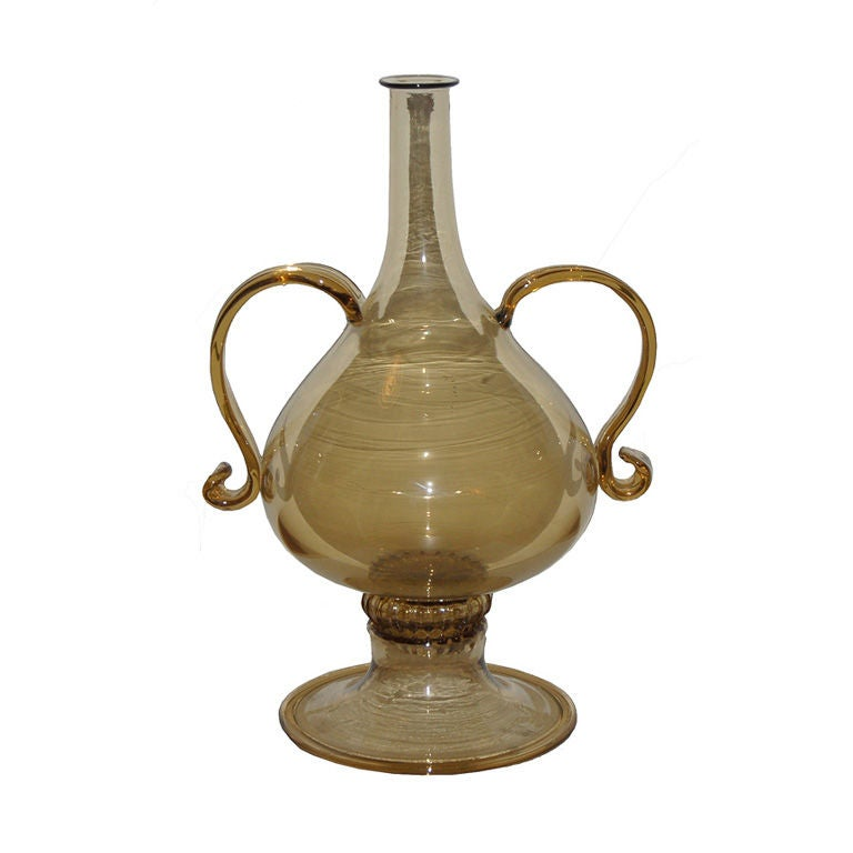 """Vittorio Zecchin """"Holbein"""" Art Glass Vase For Sale"""