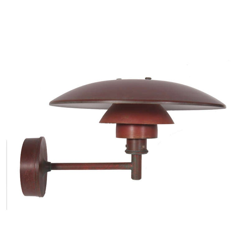 Three Outdoor Copper Wall Lamps by Poul Henningsen at 1stdibs